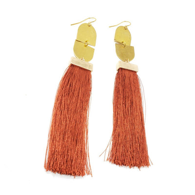 Shoulder-Duster Tassel Earrings