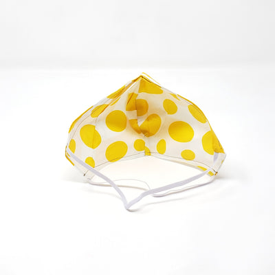 Mask - Full Cover Comfortable Head Straps - Yellow Chevron