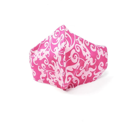 Mask - Full Cover Comfortable Head Straps - Pink Paisley