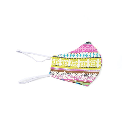 Mask - Full Cover Comfortable Head Straps - Tribal Stripes
