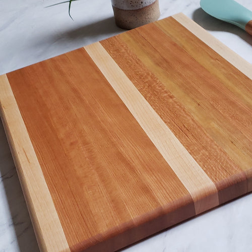 Almost Square Cutting Board - Cherry + Maple