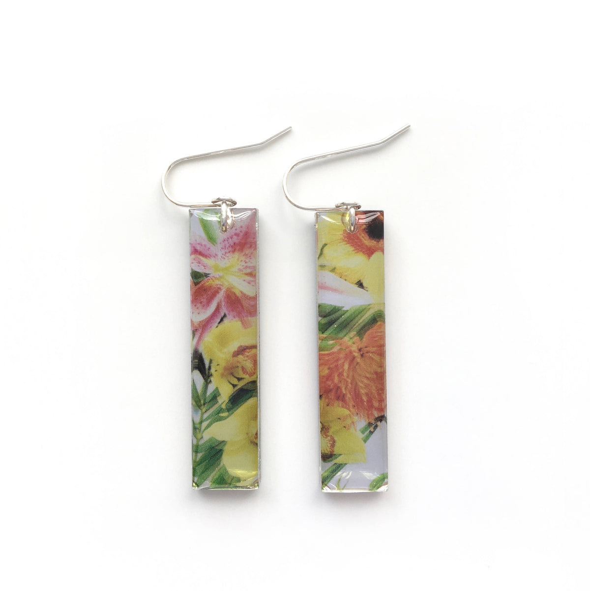 Black Drop Designs - Mirror Tall Vacation Earrings