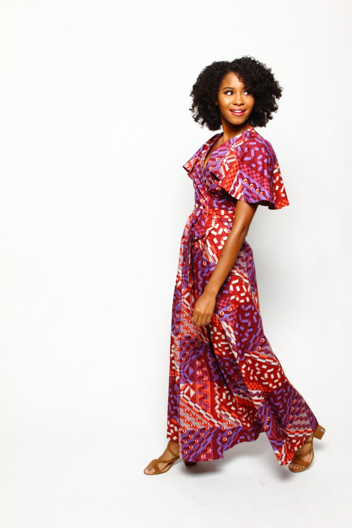 Dinah Wrap Dress - Tropical Punch - suakoko betty