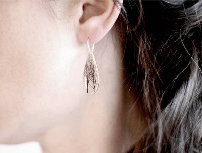 Black Drop Designs - Drip Forest Earrings