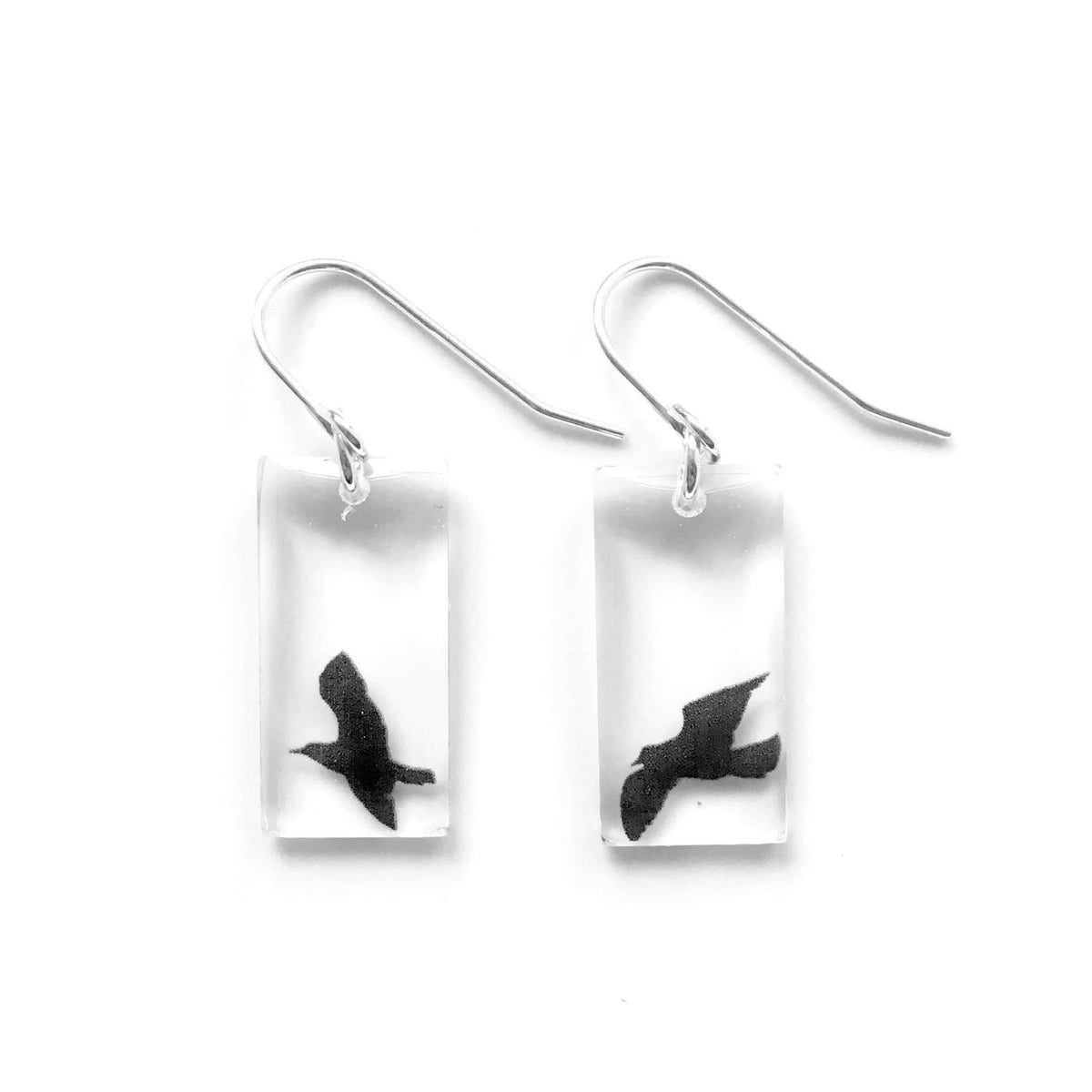 Black Drop Designs - Small Bird Earrings