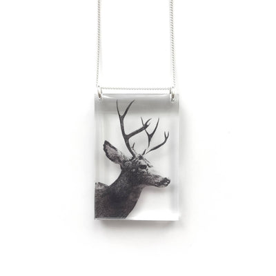 Tall Deer Necklace