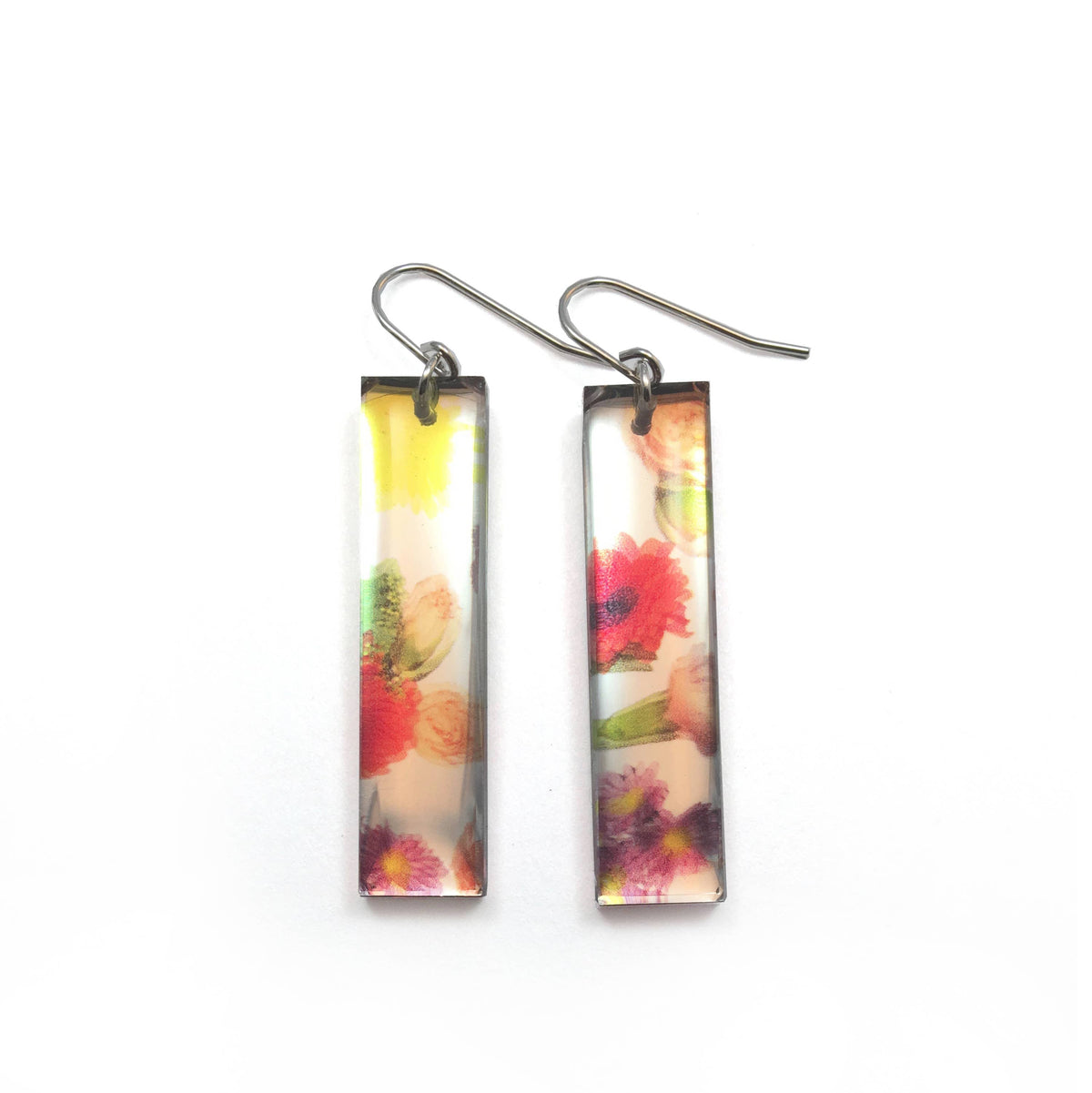 Black Drop Designs - Mirror Tall Wallpaper Earrings