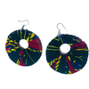 Kitenge earrings (large round)