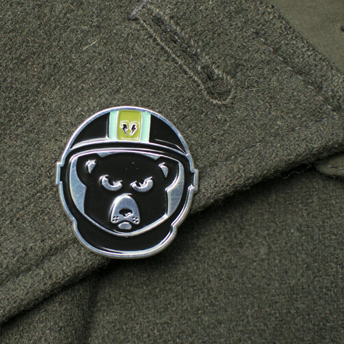 Space Bear Enamel Pin