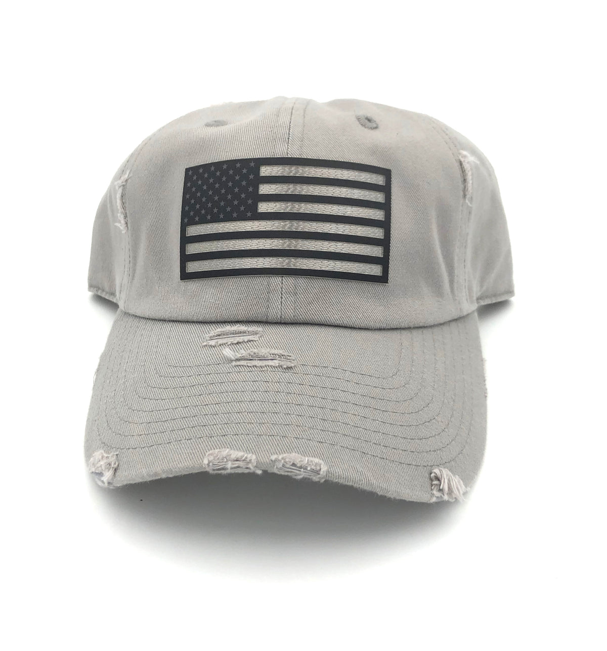 American Flag - Gray Hat