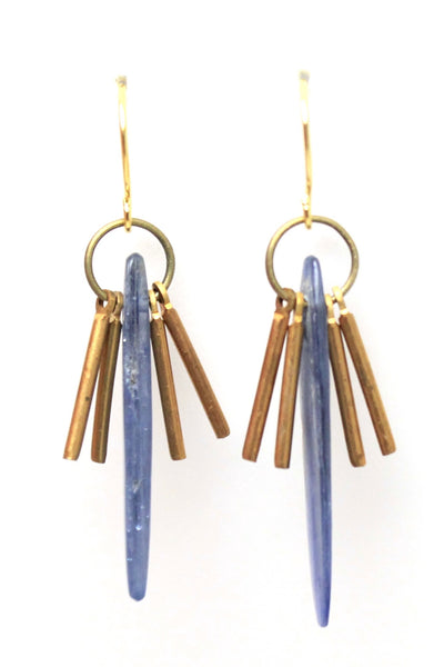 Ali - kyanite fringe earrings