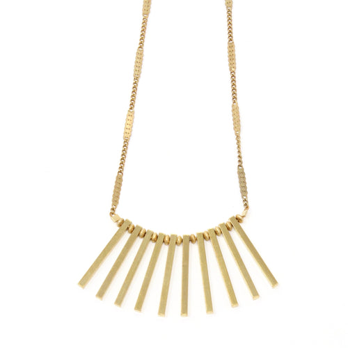 Angelo - gold fringe necklace