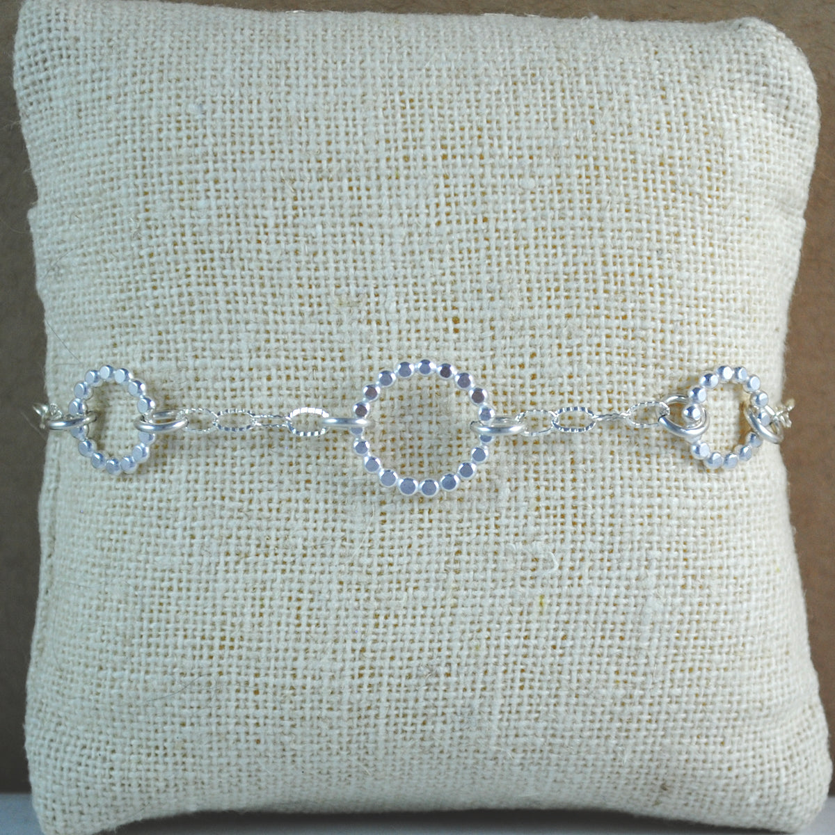 Beaded Floating Bracelet - sterling silver