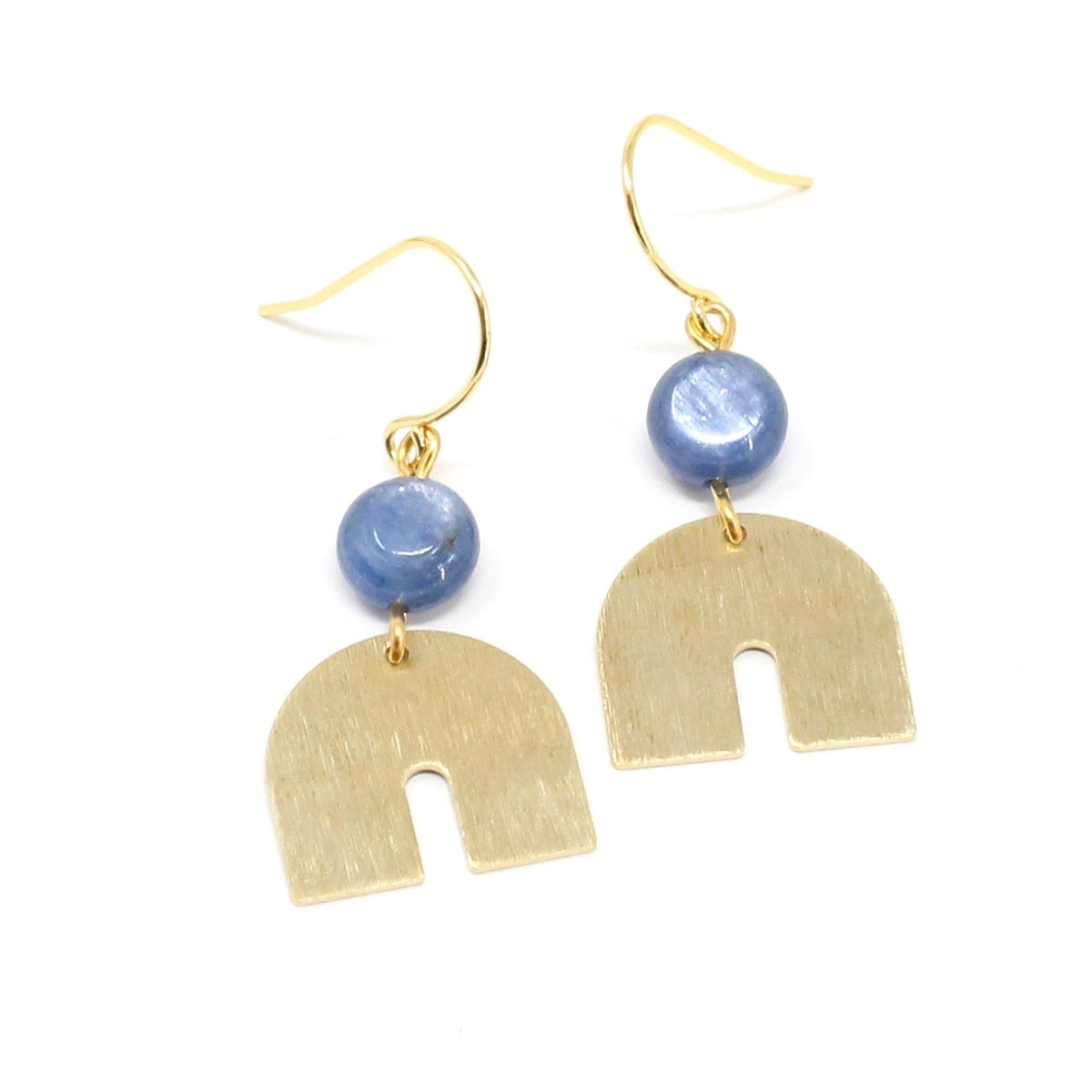 Beau - kyanite rainbow earrings