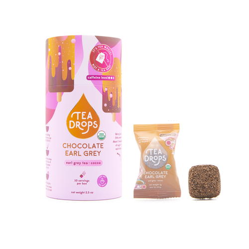 Chocolate Earl Grey Tea Drops - Compostable Container