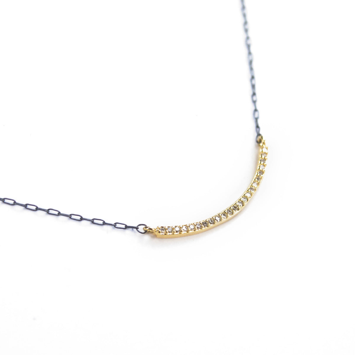 CZ Bar Necklace