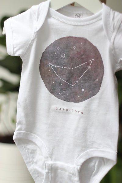 Onesie - Zodiac Sign - Capricorn Constellation Baby Bodysuit