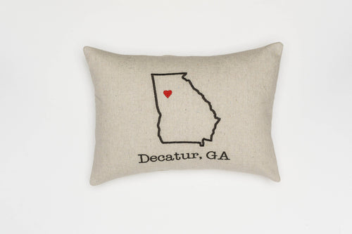 Custom City State Outline Pillow