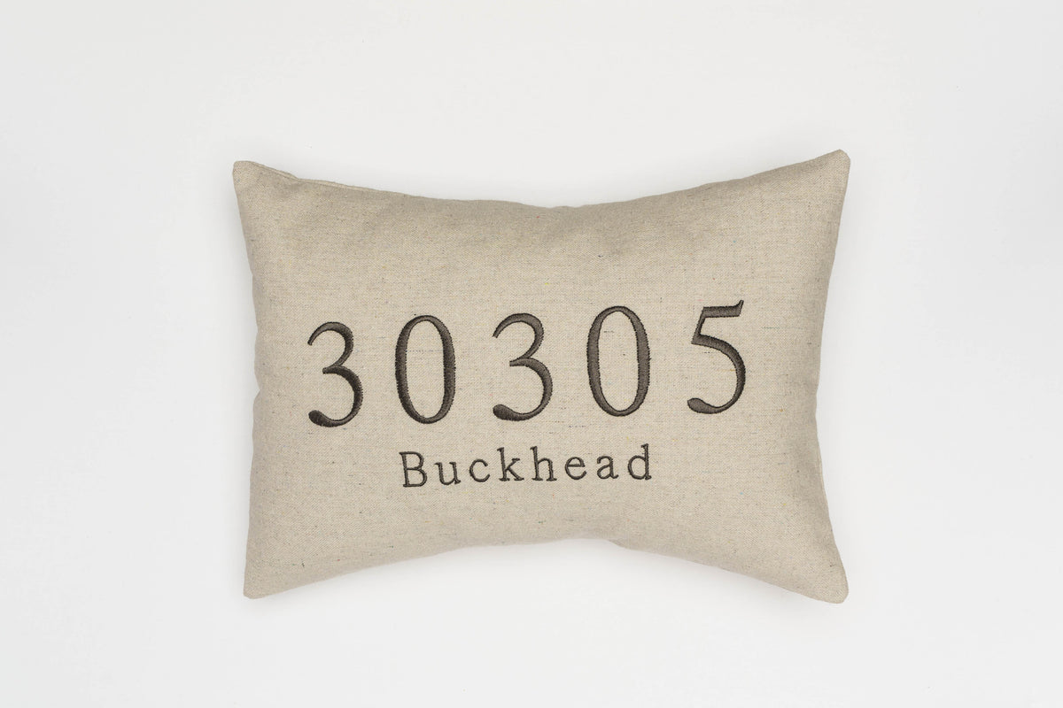 Custom Gray Zip Code Pillow