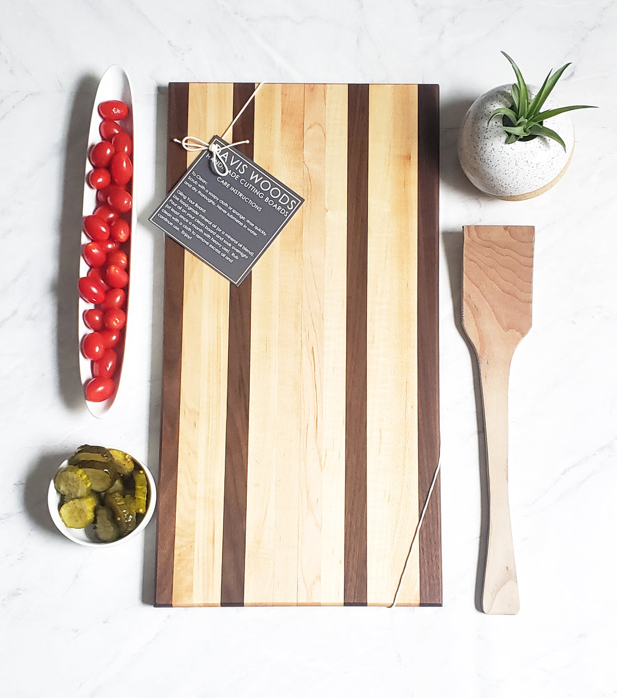 The Longboard Wood Serving Tray - Maple and Walnut