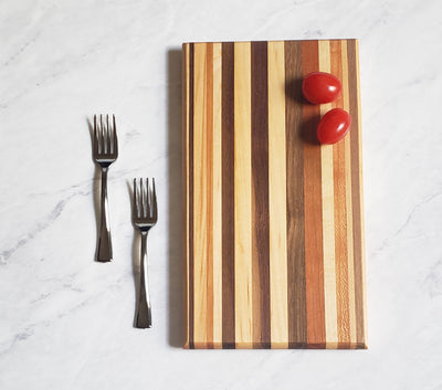 The Mini Wood Cheeseboard - Cherry, Maple, Walnut and Red Heart