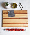 More than Standard Large Wood Cutting Board - CHERRY, RED HEART AND MAPLE