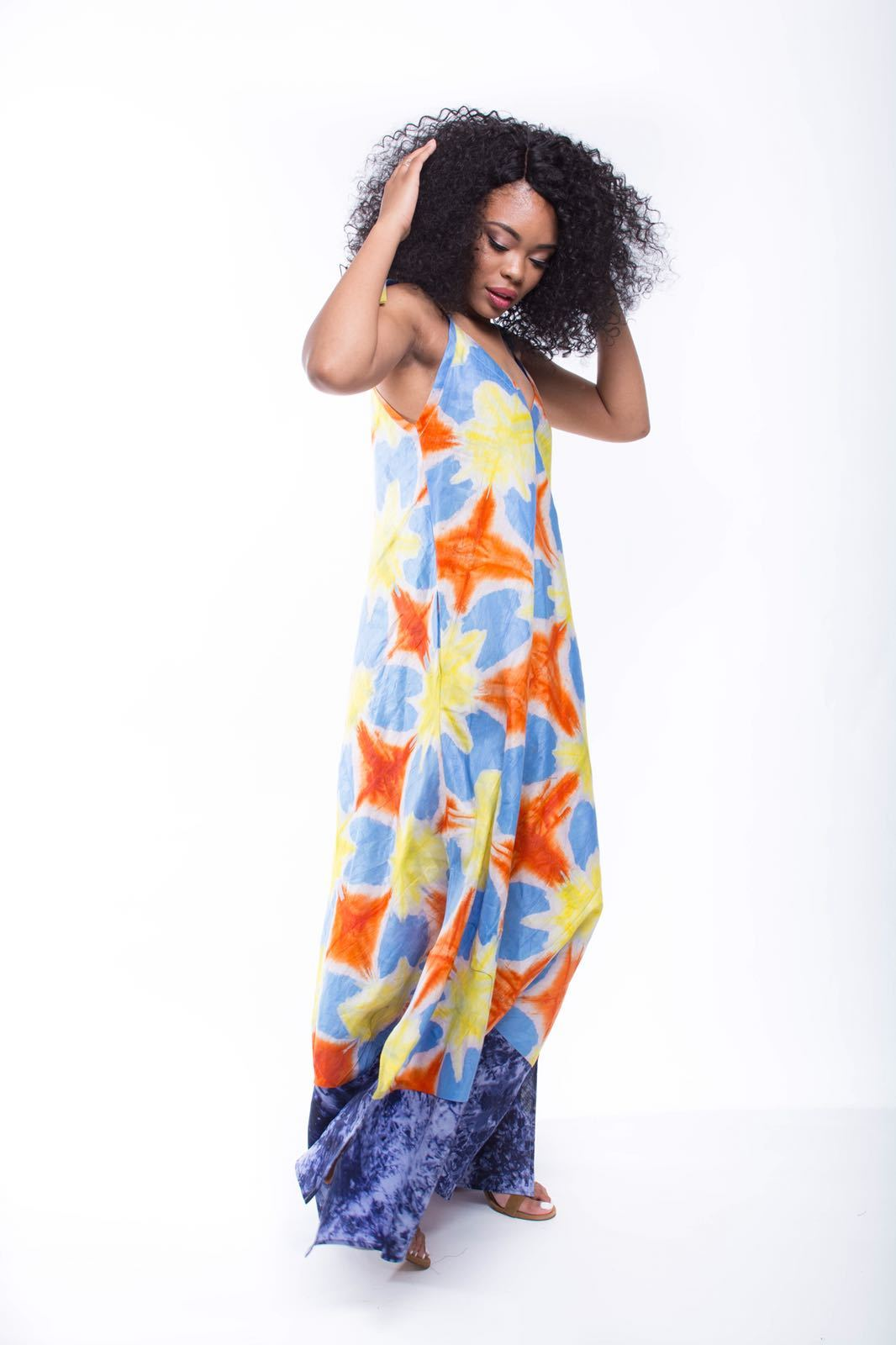 African Print Kona Gown - Atlantic - suakoko betty