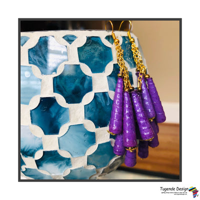 Dangling 6 Cone Bead Earrings (3 colors)