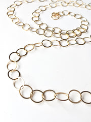 Classic Hammered Circle Necklace