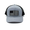 American Flag - Gray/Black Trucker