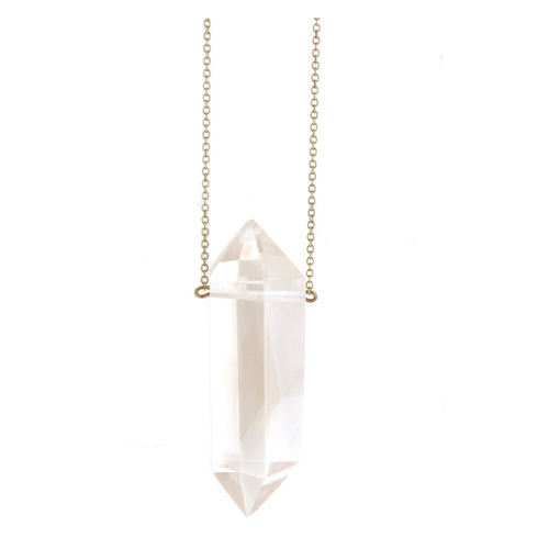 Hive XL -- clear quartz pendant