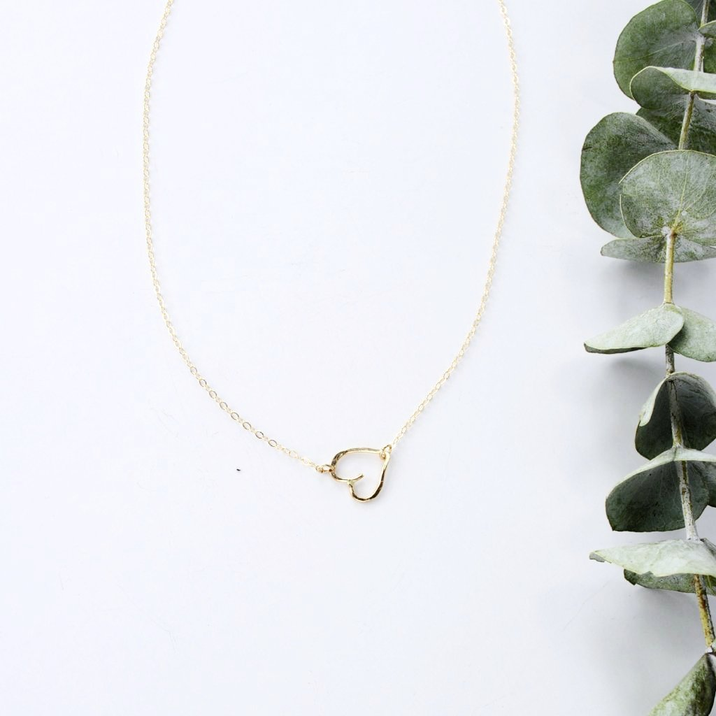 Hold Me Tight - Sideways Heart Necklace