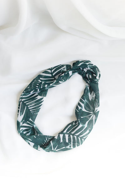 Tropical Leaves Headwrap