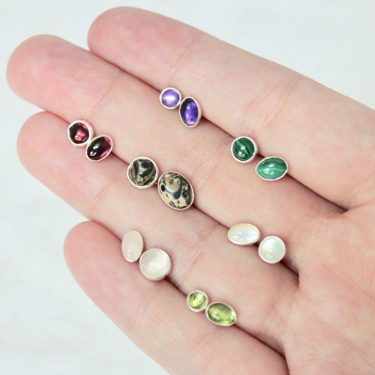 Gemstone Mismatch Earrings