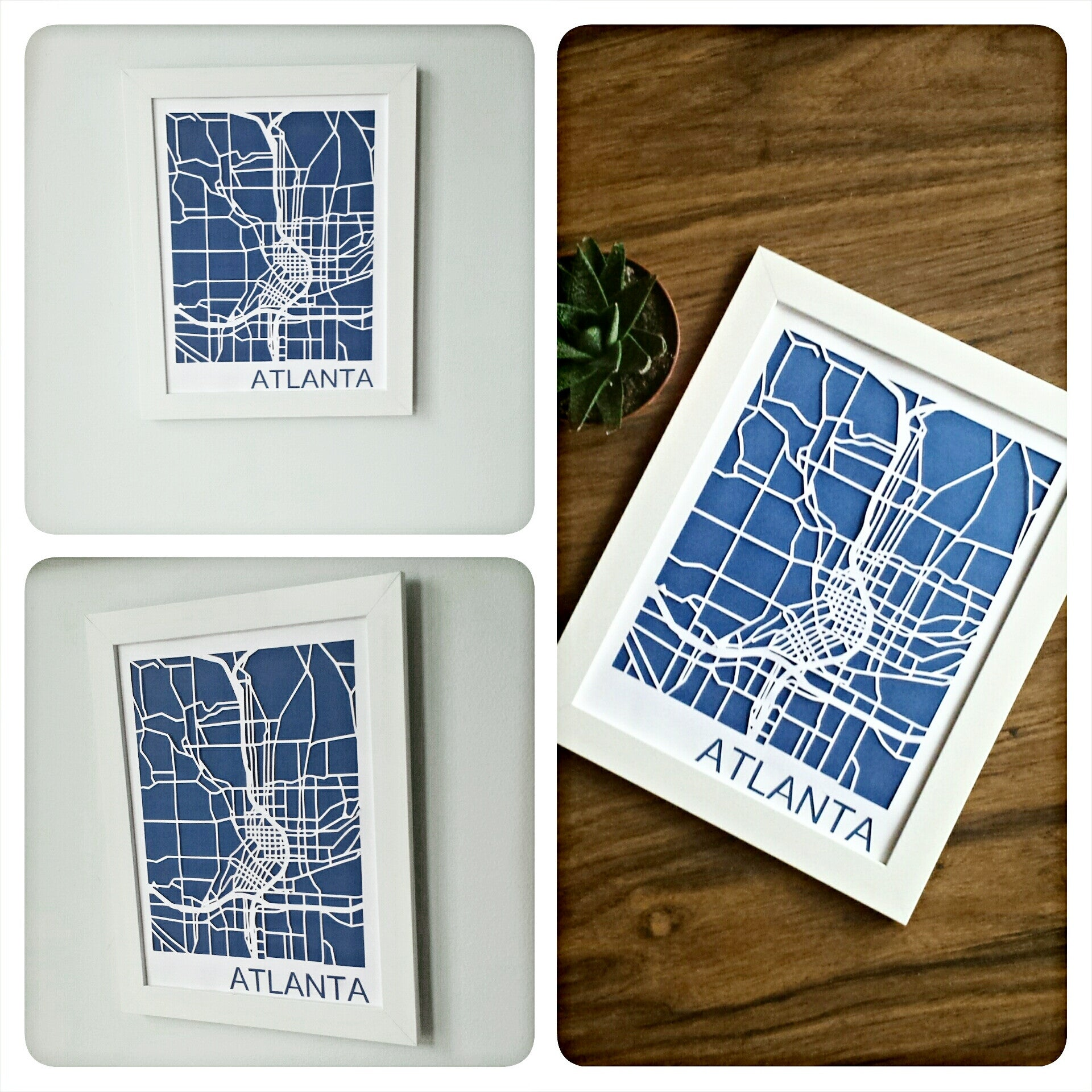 Virginia Highlands Neighborhood Paper Cut Map