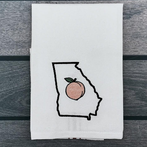 Georgia Peach Tea Towel