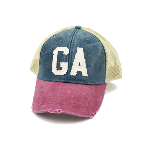 GA Trucker Hat - Tri-Color