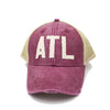 ATL Trucker Hat - Burgundy