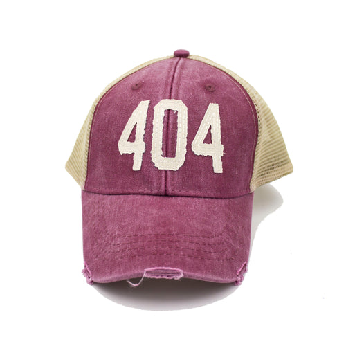 404 Trucker Hat - Burgundy