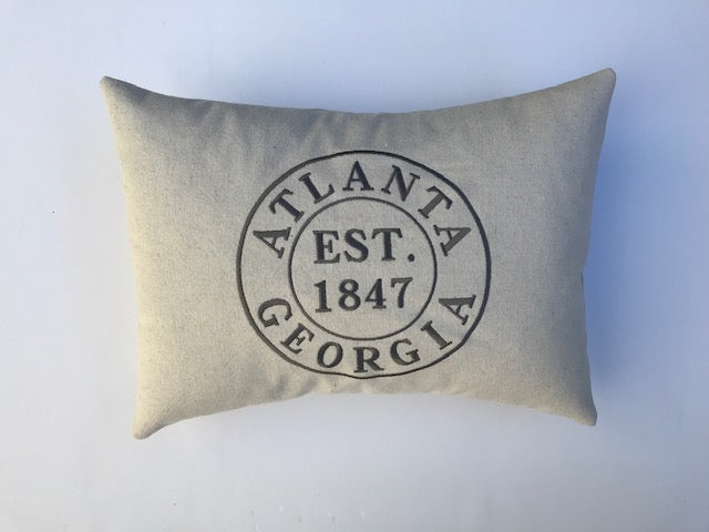 Atlanta Stamp Pillow