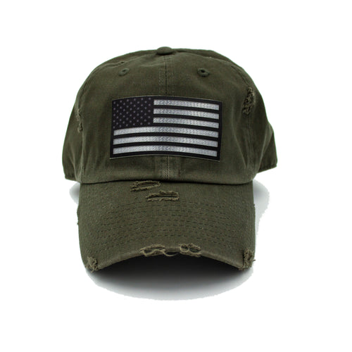 American Flag - Green Hat