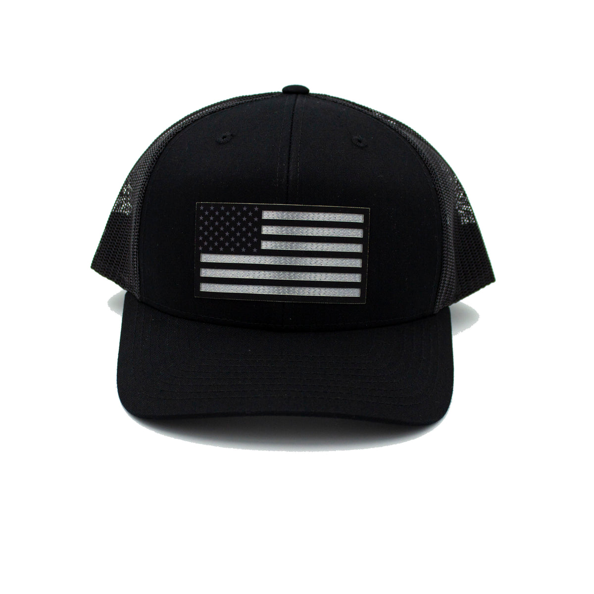 American Flag - Black Trucker
