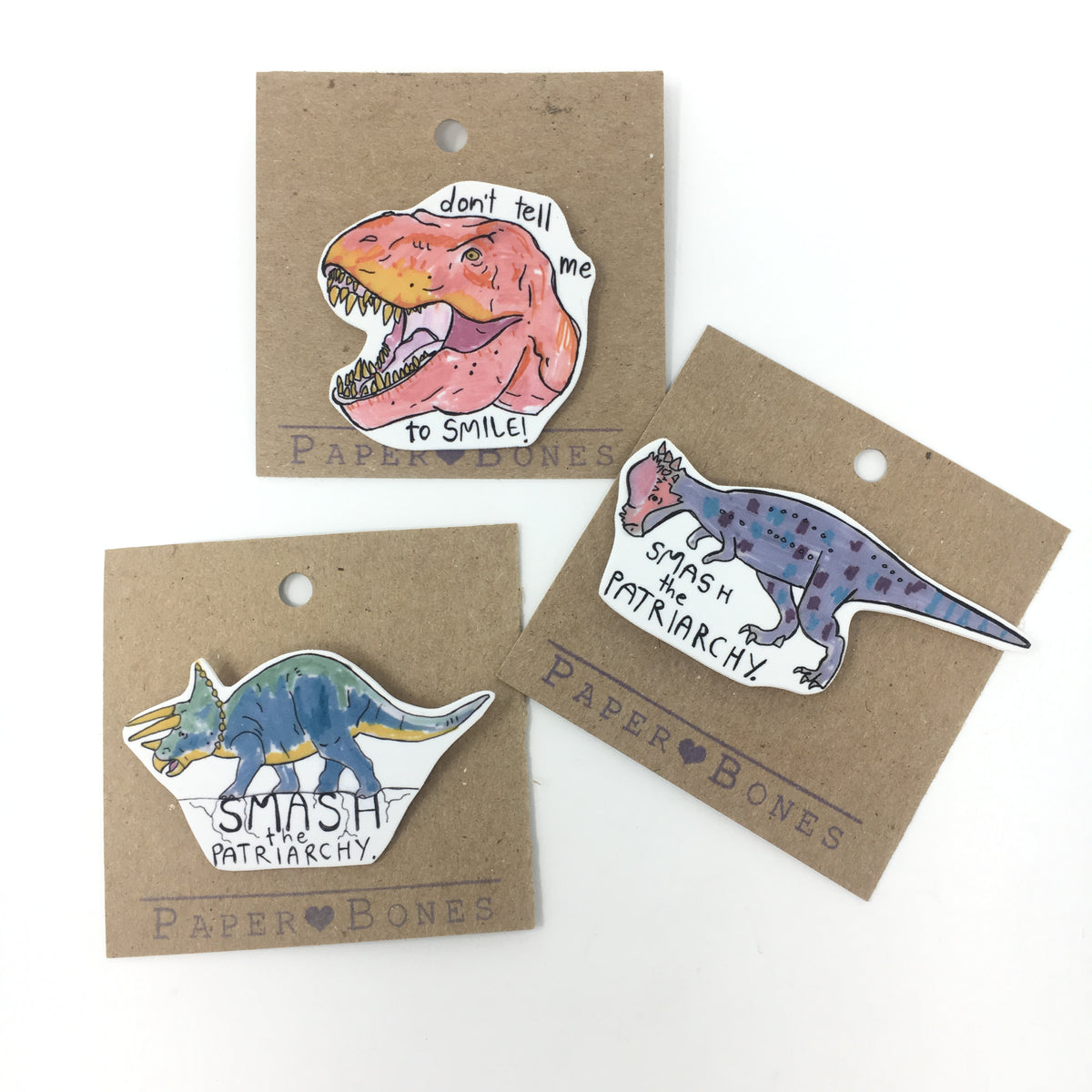 Smash the Patriarchy Dino Pin