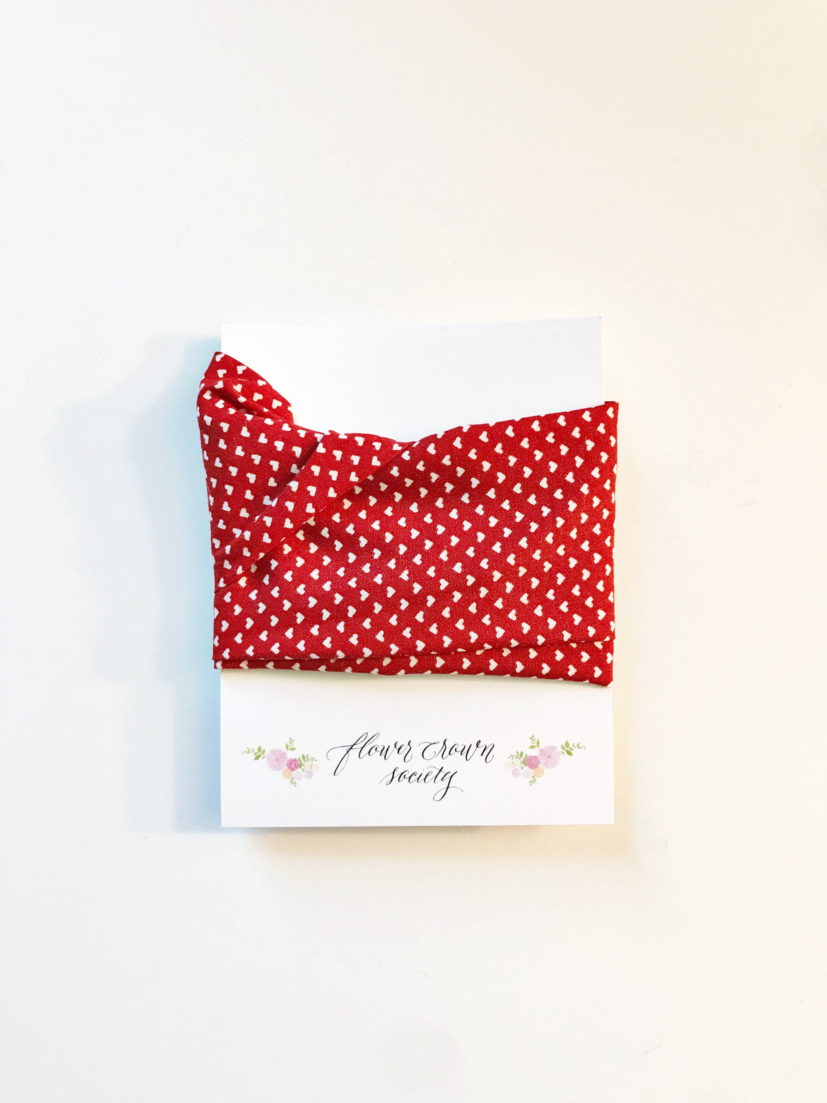 Red with White Hearts Headwrap