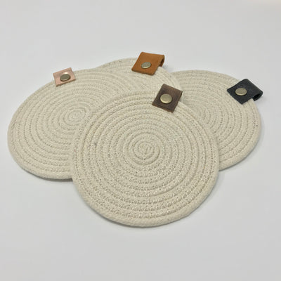 "Roped - 4"" Cotton Rope Coasters"