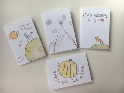 Hand Drawn Valentines