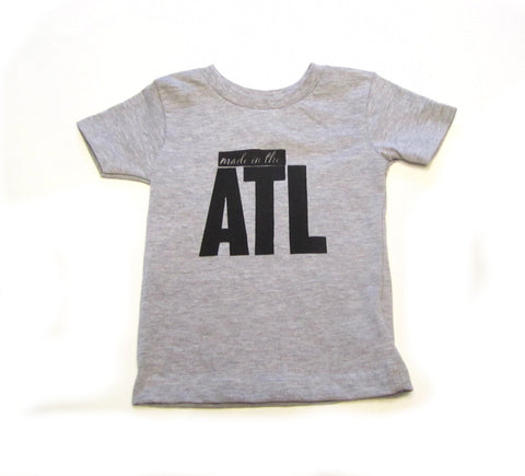 Gray Made in the ATL Kids T-Shirt