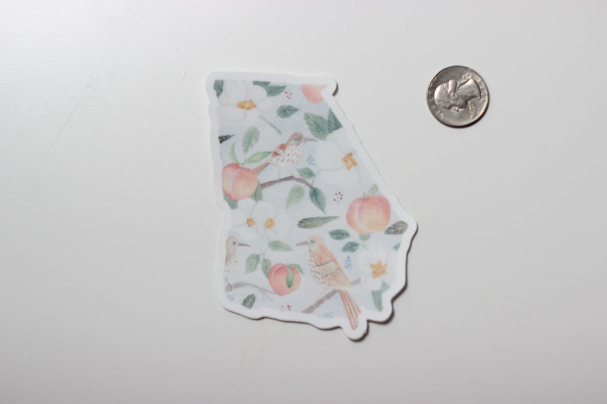 Sticker - Georgia State Symbols - Peach or Plum
