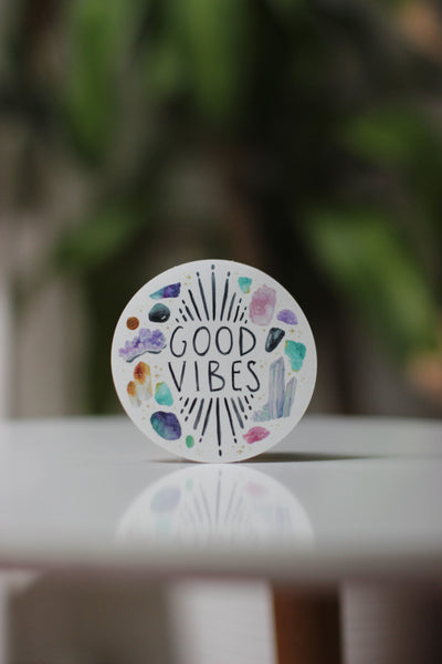 Sticker - Good Vibes - Peach or Plum