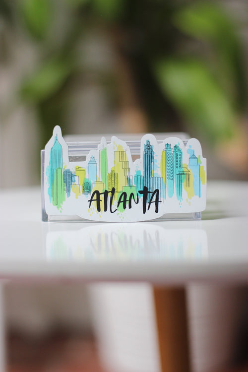 Magnet- Atlanta Skyline Watercolor - Peach or Plum